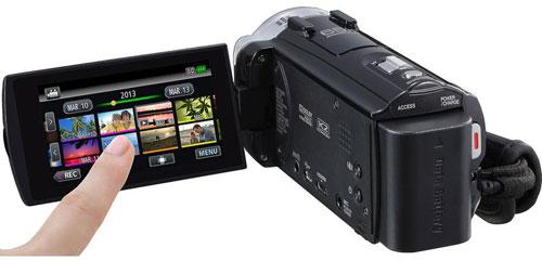 JVC GZ-EX555 Back View