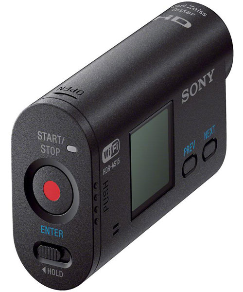 Sony HDR-AS15 Back View