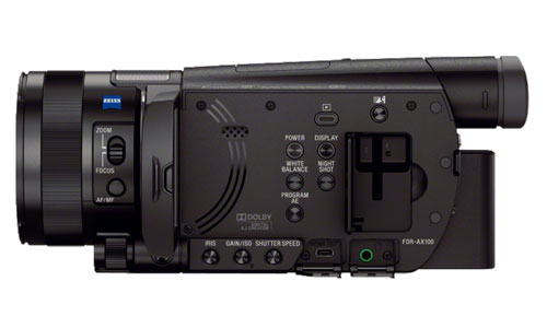 Sony FDR-AX100 Side Panel