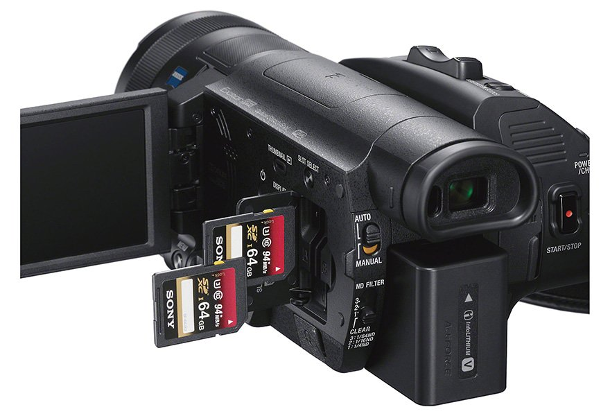 Sony FDR-AX700 with Dual Memory Card Slots
