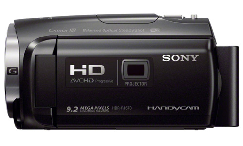 Sony HDR-PJ670 with Projector