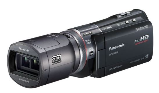 Panasonic HC-X900 with 3D conversion lens